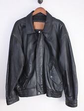 Presidio x Sawyer of Napa Leather Bomber Jacket XL Black Soft Zip Front Flight