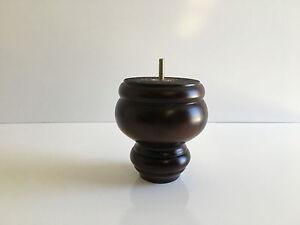"5"" Wood Spindle Furniture Legs,Sofa/Chair/ Bun Feet ( Set Of 4 )"