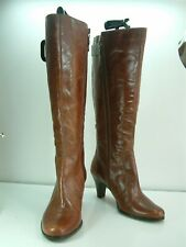 Emotions  - Real Leather Tan Zip Up , Go Anywhere Boots - Size 6 UK 39 EU