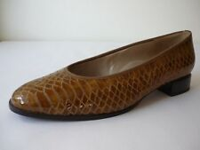 HASSIA Damen Schuhe 9 (43) Leder Pumps Lackleder Braun NEU