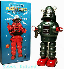 Planet Robot Tin Toy Robby the Robot Windup Rare Metallic Green Limited Edition