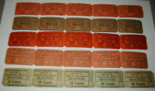 Lot of 240 Old Vintage - Rocky Springs - AMUSEMENT PARK - Ride TICKETS  PA.