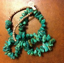 NAVAJO TURQUOISE NUGGET NECKLACE 146 Grams