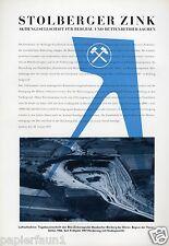 Stolberger Zink XL Reklame 1956 Aachen Maubacher Bleiberg Maubach Grube Düren