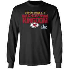 Men's Kansas City Chiefs Super Bowl LIV Football 2019 Black T-Shirt M-3XL