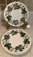 "Set of 4 - 6 1/4"" Johnson Bros Vintage Cream Bread & Butter Plates Green Ivy"