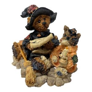 Boyds Bears Emma the Witchy Bear Bearstones Figurine Boxed