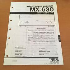 Yamaha MX-630 Amplifier Service / Repair Manual Schematics - Factory Original