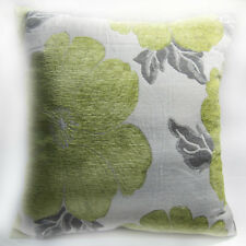 Wb07Aa Light Green Daisy Flower Chenille Throw Cushion Cover/Pillow Case* Size