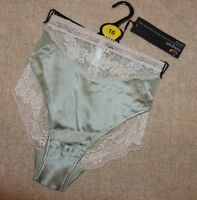 ROSIE FOR AUTOGRAPH BY M&S LUXURIOUS SILK WITH LACE - HIGH LEG - SIZE 16 - NEW