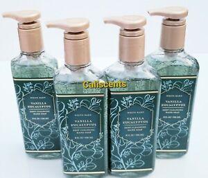 BATH & BODY WORKS VANILLA EUCALYPTUS DEEP CLEANSING HAND SOAPS X4 NEW