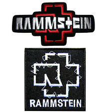 2 RAMMSTEIN METAL PUNK ROCK MUSIC IRON ON SHIRT CAP PATCH