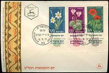 Flowers Israeli Stamps