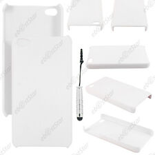 Etui Housse Coque Rigide Fine sans motif Blanc Apple iPhone 4S 4 + Mini Stylet