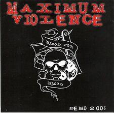Maximum violenza simulata-demo 2006 CD-R hardcore deathmetal deathcore Calibano