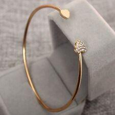 Armband Armreif gold mit Herz, Pfeil und Steine Elegant Armspange Schmuck Blitzv
