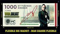 VOLBEAT Michael Poulsen IMÁN BILLETE 1000 KRONE BILL MAGNET