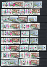 MALAYSIA 1965 ORCHID FLOWER 13 X COMPLETE SETS OF MNH STAMPS + GUM VARIETIES