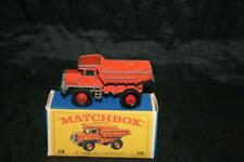 MATCHBOX LESNEY SERIES MB28D YEAR 1968 MACK DUMP TRUCK GOOD COND AND CRAFTED BOX