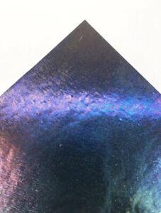 Bullseye Iridised Rainbow Aventurine Blue Glass Sparkly Fused Stained 5cm COE90