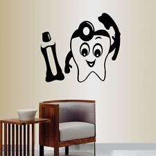 Vinyl Decal Tooth with Tooth Paste and Brush Bathroom Dentist Dental Office 866