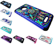 Sparkle Hybrid Dual Phone Cover Case For Motorola Moto Z / Droid X4 XT1650-01