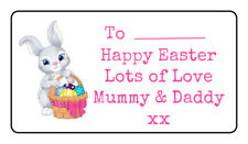 Easter personalised rectangular stickers for eggs, gifts, sweet cones, bunny