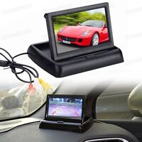 12V 4.3 inch TFT LCD Screen Folded Security Monitor for Car Rearview Camera DVD
