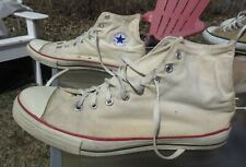 CONVERSE ALL STAR High Top White Canvas Shoe / Pre-owned / Men 13 / Made in USA