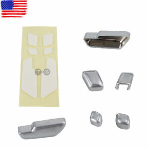 for Mercedes-Benz E Class W212 Chrome Door Seat Adjust Button Switch Cover Trim