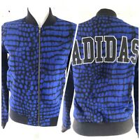 Adidas Originals Track Top Size 6 XS Blue Jacket Long Sleeve Spell out