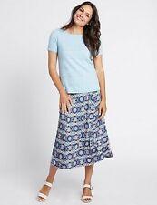 M&S Women's CLASSIC Ditsy Print A-Line Midi Skirt NEW!!