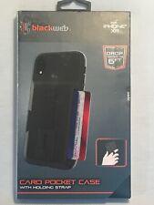 NEW BLACKWEB Card Pocket Case With Holder Strap | iPhone XR | Sealed Box