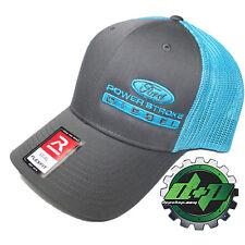 d0a3aee3669f3 Ford Powerstroke trucker hat richardson Charcoal Gray Blue mesh flex fit lg  xl