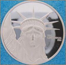 """1 oz .999 silver """"LIBERTY TRADE SILVER 1986"""" Mexico Mint Art Round/Bar H269"""