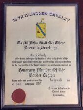 1959 14th Armored Cavalry Honorary Member US Army Historical Document