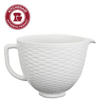 KitchenAid 5 Quart Textured Ceramic Bowl, KSM2CB5TLW