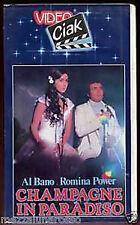 CHAMPAGNE in PARADISO Al Bano/Romina VHS USATA