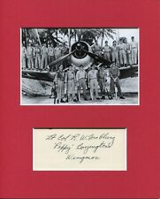 Robert McClurg Black Sheep Squadron WWII War Ace Signed Autograph Photo Display