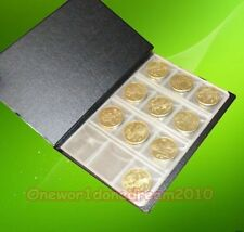 120-Pockets 3x3cm Coins Currency Holders Inserts Sleeves Collection Pages Book