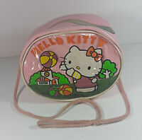 Vintage Hello Kitty Purse Sanrio 1985 Girls Handbag Pink Travel Case Rare Japan