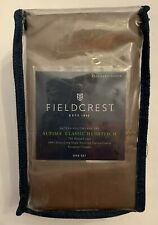 Supima Classic Hemstitch Pillowcase Set, 700 TC - Fieldcrest - Brown, Standard