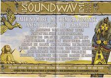 Soundwave Festival 2010 Concert Flyer Faith No More Janes Addiction Anvil AFI