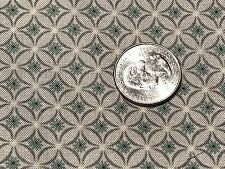Fabric Teal Flowers Tiny Teal Damask Diamonds on Gray Cotton by the 1/4 Yard S