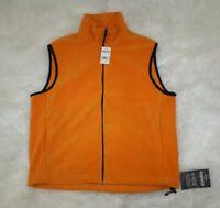 Woolrich Mens Orange Duraloft Full Zip Fleece Vest Jacket New NWT Sz L Large