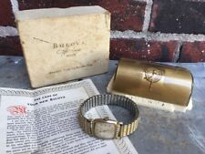 Incredible Vintage 1951 Bulova Director Watch 10k Gold Plate Original Case & Box