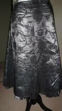 *Per Una* Victorian Grey & Black Taffeta Skirt Size 14 Goth Steampunk