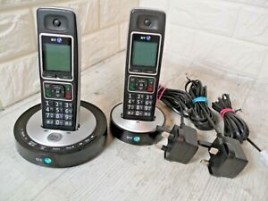 BT6510 Twin Handset And Charger Answering Phone Black & Silver FREE P&P