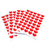 160 Red Heart Stickers 16mm Wedding Valentine Mothers Card Scrapbook Diary etc