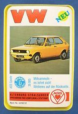 Quartett - VW - ASS - Nr. 3292/2 - von 1976 -- Auto -- Volkswagen Kartenspiel